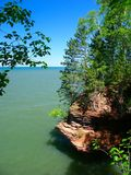 Apostle Islands - Wisconsin. View of Lake Superior from Apostle Islands National Lakeshore in northern Wisconsin Stock Photo