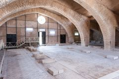 Apostle's church in Madaba. MADABA, JORDAN - APR 28, 2014: Apostle's church in Madaba, Jordan. Madaba is called 'the city of Mosaics Royalty Free Stock Image