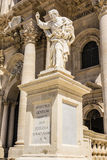 Apostle statue in Cathedral Church in Syracuse, Sicily Stock Photos