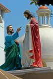 Apostle Thomas and Jesus Christ Stock Images