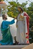 Apostle Thomas and Jesus Christ Stock Image