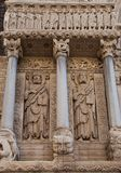 Apostles Bartholomew and James the Great statues (1190). Arles, Stock Image