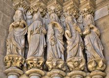 Apostles at the entrance of the Cathedral of Evora royalty free stock image