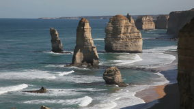 12 Apostles. The famous 12 Apostles on the Great Ocean Road stock video