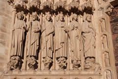 Apostles, Notre dame de Paris Royalty Free Stock Photography