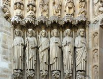The apostles, Notre Dame (France) Royalty Free Stock Photo