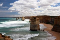 The 12 Apostles Port Campbell,Great Ocean Road in Victoria 12 Apostles near Port Campbell ,Great Ocean Road in Victoria, Australia Stock Image
