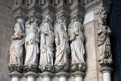 Apostles portal. Sculptures of Apostles round the portal of the Cathedral of Evora, Portugal Royalty Free Stock Images