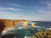 The 12 Apostles. Southern Ocean on Victoria Stock Photos