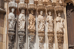 Apostles statues in Batalha monastery Stock Image