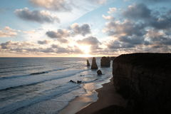 12 Apostles at Sunset royalty free stock images