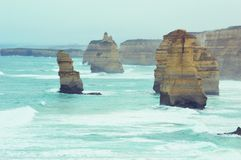 12 Apostles 2. Waves rolling in the afternoon at the 12 Apostles Stock Photography