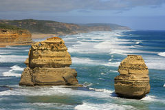 12 apostlesl Australia two Royalty Free Stock Images