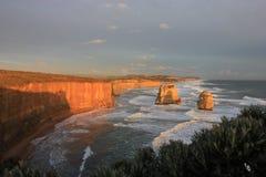 12 apostoli al tramonto Fotografia Stock Libera da Diritti