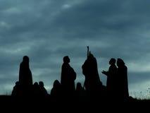 Apostoli che parlano la bibbia di Gesù di religione Fotografia Stock