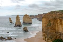 12 apostoli, grande strada dell'oceano, Victoria Australia Oct 2017 Immagine Stock Libera da Diritti