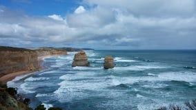 12 apostoli nuvolosi fotografia stock