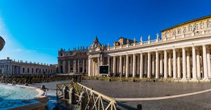 Apostolic Palace is residence of Pope, Vatican. ROME, ITALY - JANUARY 24 2016: Apostolic Palace is official residence of Pope, which is located in Vatican City royalty free stock photos