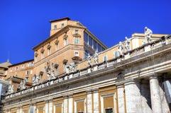 Apostolic slott, Vatican. Roma (Rome), Italien Royaltyfria Foton