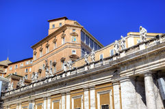 Apostolischer Palast, Vatikan. Rom (Rom), Italien Lizenzfreie Stockfotos