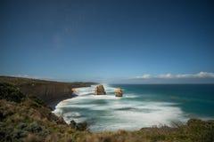 Apostolo dodici al crepuscolo, l'Australia Fotografia Stock Libera da Diritti