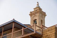 Apostolos Andreas Monastery situado na ilha de Chipre, na península de Karpasia imagens de stock