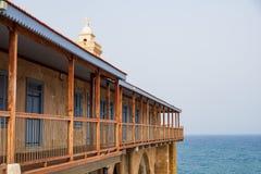 Apostolos Andreas Monastery situado na ilha de Chipre, na pen?nsula de Karpasia imagem de stock