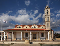 Apostolos Loucas, kyrka i Kolossi nära Limassol cyprus arkivbilder