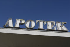 Apotek _pharmacy Royaltyfria Foton