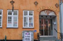 Køge  Apotek (koege denmark). Pharmacy in Denmark on the square koege in denmark Royalty Free Stock Images