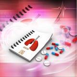 Apotekarerecept med preventivpillerar Royaltyfri Fotografi