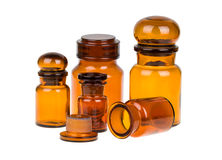 Apothecary bottles Royalty Free Stock Image