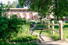 Apothecary garden of the Saviour Monastery of St. Euthymius, Russia, Suzdal royalty free stock photos