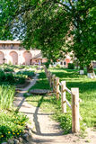 Apothecary garden of the Saviour Monastery of St. Euthymius, Russia, Suzdal stock image