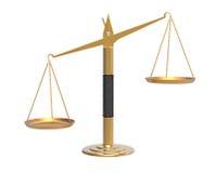 Apothecary scales unbalanced Stock Photos