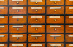 Apothecary wood chest with drawers Royalty Free Stock Image