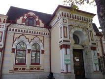 apotheek Een oud gebouw Een uniek monument van architectuur van de 19de eeuw Pyatigorsk Rusland royalty-vrije stock fotografie