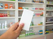 Apothekerhandgriffmedizin-Kastenpaket Lizenzfreies Stockfoto