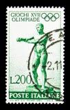 Apoxiomenos av Lysippus, sommarOS 1960 - Rome serie, Arkivbilder