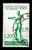 Apoxiomenos Lysippus, θερινοί Ολυμπιακοί Αγώνες 1960 - Ρώμη serie, Στοκ Εικόνες
