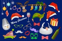 Apoyo de la cabina de la foto de la Navidad stock de ilustración