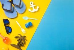 Apoyo del verano colorido en la visión superior Imagen de archivo libre de regalías
