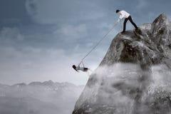 Apoyo a empresas para superar adversidad Fotografía de archivo libre de regalías