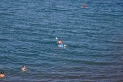 Apoyo laguny widok z ludźmi na odtwarzaniu w słonecznym dniu, Masaya, Nikaragua Obraz Royalty Free
