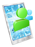 app概念图标媒体给社交打电话 免版税库存照片