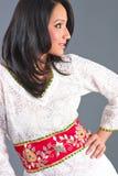 app被绣的印第安s妇女 免版税库存图片
