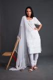 app被绣的印第安s妇女 免版税库存照片