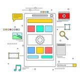 App έννοια ανάπτυξης Στοκ Εικόνες