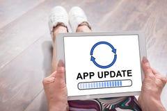 App έννοια αναπροσαρμογών σε μια ταμπλέτα Στοκ εικόνα με δικαίωμα ελεύθερης χρήσης