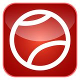 App αθλητικών σφαιρών εικονίδιο Στοκ φωτογραφία με δικαίωμα ελεύθερης χρήσης